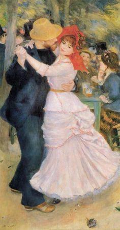 artist-renoir: Dance at Bougival via Pierre-Auguste RenoirSize:. Pierre Auguste Renoir, August Renoir, Tableaux Vivants, Renoir Paintings, Oil Paintings, Illustration Art, Illustrations, Impressionist Art, Famous Art