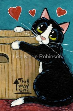 I Love You Special Box Greeting Card by Lisa Marie Robinson I Love You Special Box by Lisa Marie Robinson The post I Love You Special Box Greeting Card by Lisa Marie Robinson appeared first on Katzen. Cute Cats And Dogs, I Love Cats, Cool Cats, Cats And Kittens, Photo Animaliere, Image Chat, Cat Urine, Cat Cards, Cat Drawing