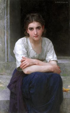 William-Adolphe Bouguereau (FRENCH, 1825–1905) Rêverie sur le seuil