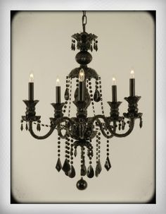 My chandelier... with pearls hanging from it?