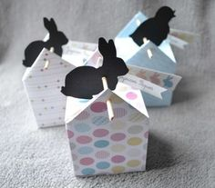 Very original boxes with labels to print Envelope Maker, Diy And Crafts, Crafts For Kids, Gift Wraping, Christmas Events, Easter Holidays, Party In A Box, Easter Crafts, Craft Gifts