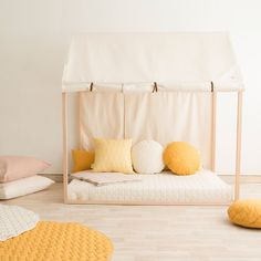 14 Fabulous Rustic Chic Bedroom Design and Decor Ideas to Make Your Space Special - The Trending House Mustard Bedding, Yellow Bedding, Sitges, Baby Bedroom, Kids Bedroom, Sofa Design, Romantic Bedroom Decor, Deco Kids, Fantasy Bedroom