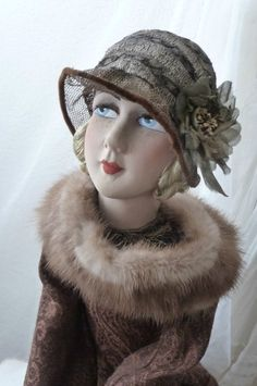 """CASHEMERE WITH BEADED PURSE HANDBAG. """"POIRET"""" FASHION STYLE.THIS IS A LOVELY BEAUTY. BEAUTIFUL FRENCH BOUDOIR DOLL. SHE IS AN AUTHENTIC BOUDOIR DOLL IN GOOD CONDITION FOR THE AGE. FLAPPER 1920. SHE IS MARVELOUS DOLL ,FABULOUS HAT ,BEAUTIFUL DRESS.   eBay!"""