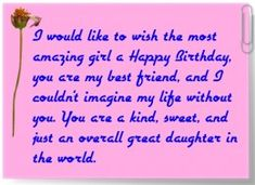 Discover and share Happy Birthday Daughter Quotes. Explore our collection of motivational and famous quotes by authors you know and love. 19 Birthday Quotes, Happy Birthday Quotes For Daughter, Happy 19th Birthday, My Daughter Quotes, Birthday Verses, Birthday Quotes For Best Friend, Birthday Wishes Funny, Daughter Birthday, Best Friend Quotes