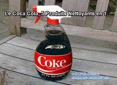 Plus qu'une simple boisson gazeuse, le Coca-Cola a 5 super vertus nettoyantes. Il serait dommage de passer à côté, non ? Donc, plutôt que d'en boire, utilisez-le comme produit nettoyant, c'est super efficace.  Découvrez l'astuce ici : http://www.comment-economiser.fr/produit-nettoyant.html?utm_content=bufferd2105&utm_medium=social&utm_source=pinterest.com&utm_campaign=buffer