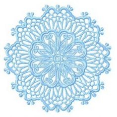 Lace doily 5 machine embroidery design. Machine embroidery design. www.embroideres.com Snowflake Embroidery, Lace Doilies, Mandala Art, Machine Embroidery Designs, Henna, Snowflakes, Free Printables, Coloring Pages, Decoupage