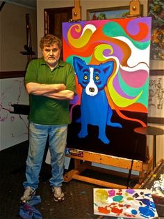 Tiffany - Blue Dog  george rodrigue art George Rodrigue passed away yesterday 12-14-13 at the age of 69. He will be missed!:-(