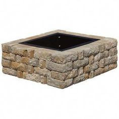 Landscaping With Rocks, Backyard Landscaping, Backyard Ideas, Diy Fire Rings, Cheap Outdoor Fire Pit, Fire Pit Video, Fire Pit Plans, Fire Pit Materials, Square Fire Pit