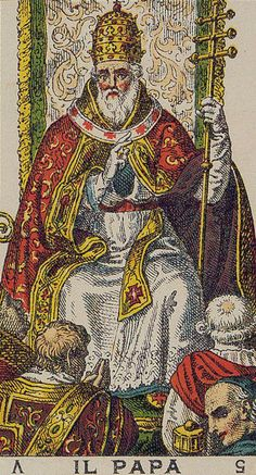 The Pope (The Hierophant) - Ancient Italian Tarot