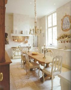French kitchen Home Decor Living Room Design Ideas French Country Kitchens, French Country Style, European Style, Belgian Style, European House, Country Chic, Country Life, Country Living, French Decor