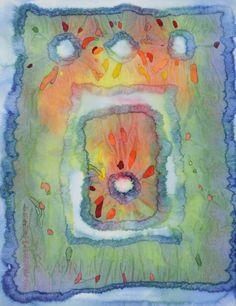"Lynda Hoffman-Snodgrass -""Dreamtime Puzzle"" watercolor"