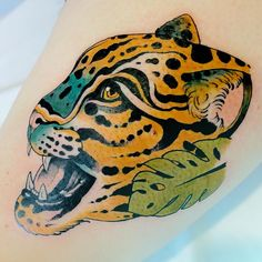 A jaguar done for the Jacksonville Jaguars done by Jacksonville Beach, Jacksonville Jaguars, Jaguar Tattoo, Nature Tattoos, Animals, Animales, Animaux, Animal Memes, Animal