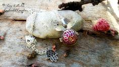 Collana chiama angeli - sfera artigianale in resina e glitter fata , by Evangela Fairy Jewelry, 18,00 € su misshobby.com