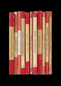 Radiohead 'Amnesiac' Album As Books Poster Print by StandardDesigns on Etsy https://www.etsy.com/listing/151495009/radiohead-amnesiac-album-as-books-poster