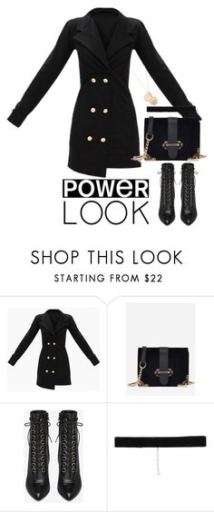 """""""Untitled #5061"""" by theeuropeancloset ❤ liked on Polyvore featuring Yves Saint Laurent, Bartoli, Cloverpost, girlpower and powerlook"""
