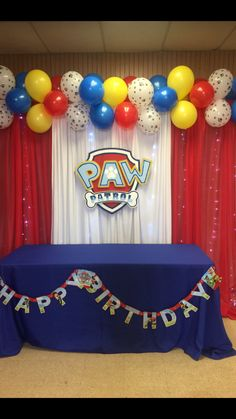 Paw Patrol Decorations 4th Birthday Parties 3rd Party