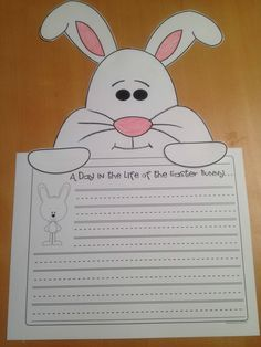 Easter Bunny Page Topper- A Day in the Life of the Easter Bunny work on writing idea