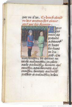 Extraits du livre de Gaston Phébus, comte de Foix, des Déduits de la chasse des bêtes sauvages et des oiseaux de proie 1475 bnf