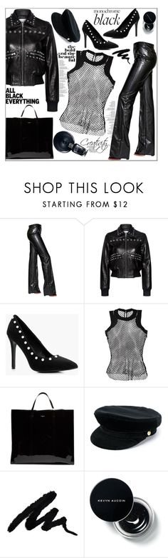 """#AllBlackOutfit"" by bilbomex ❤ liked on Polyvore featuring Sonia Rykiel, RED Valentino, Boohoo, Sacai, Balenciaga, Manokhi and allblackoutfit"