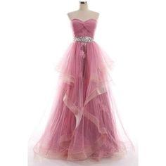 Dresstells Women's Long Straps Chiffon Prom Dress Ruffles Evening... ❤ liked on Polyvore featuring dresses, flouncy dress, prom dresses, ruffle cocktail dress, chiffon ruffle dress and sequin embellished dress