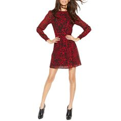 Long-Sleeve Cheetah-Print Dress from ELITIFY