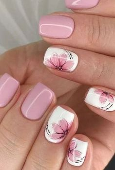 Flower Nail Designs, Flower Nail Art, Nail Designs Spring, Summer Toenail Designs, Nail Flowers, Daisy Nail Art, Spring Nail Art, Spring Nails, Pink Summer Nails