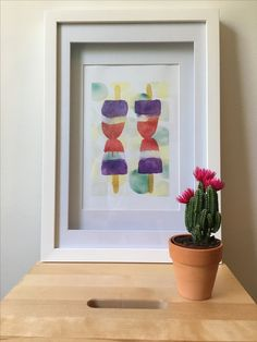 Popsicle watercolour art print available on Etsy Watercolour Art, Art Work, Design Art, Art Prints, Frame, Etsy, Home Decor, Artwork, Art Impressions
