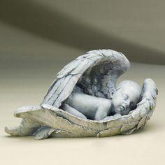 Roman, Inc. Sleeping Baby in Wings Figurine