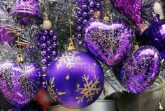 Colour me violet for Christmas.