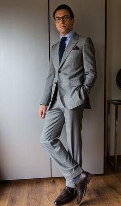 """paul-lux: """" New Kingston suit - based on a Camps de Luca suit Luxire shirt Charvet PS and tie Carmina shoes """""""