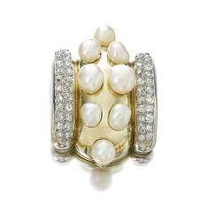 Natural pearl and diamond clip, Suzanne Belperron, 1932-1955 ...