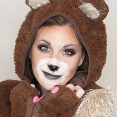 Need a last minute costume idea? This bear makeup is easy and quick! (and super cute!!)