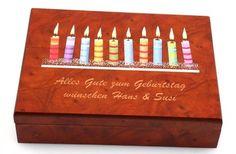 Dekorative Spielkarten Kassette aus Holz mit 4c-Digitaldruck, Geschenk - Idee