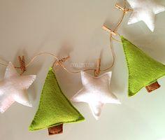 Navidad decoración árbol de Navidad guirnalda por BubblyMoon