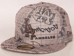 b46a05187d175 Los Angeles Dodgers Doodle Graph 59Fifty Fitted Baseball Cap by NEW ERA x  MLB Fitted Baseball