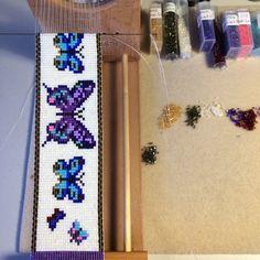 Progression on the Butterflies bracelet.