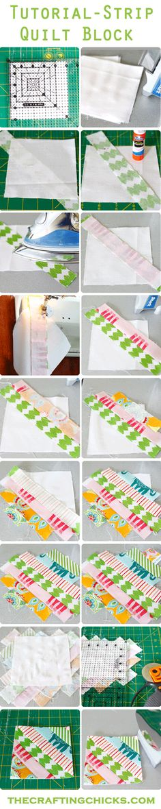 Easiest Strip technique to do ANY QUILT!! thecraftingchicks.com This is a great beginner quilt and is forgiving!  Cutest little quilt ever!