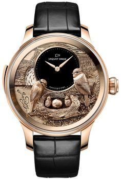 Buy Jaquet Droz Les Ateliers D'Art The Bird Repeater Watches, authentic at discount prices. Complete selection of Luxury Brands. All current Jaquet Droz styles available. Timex Watches, Men's Watches, Cool Watches, Fashion Watches, Cheap Watches, Audemars Piguet, Amazing Watches, Beautiful Watches, Tattoo Pulso