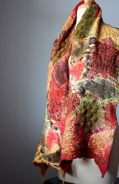 Nuno Felted scarf | Flickr - Photo Sharing!