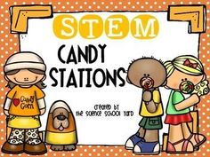 """Whether before or after Halloween...this pack is sure to be """"sweet"""" for your engineers to enjoy!  You can have students bring in candy, grab them on sale,  or buy some right after Halloween to get your hands on a deal...then treat your students to these four STEM stations:*Candy Corn Catapults*Candy Corn Catcher*Candy Car Creation*Candyland Playground This STEM pack also includes station cards and reflection sheets."""