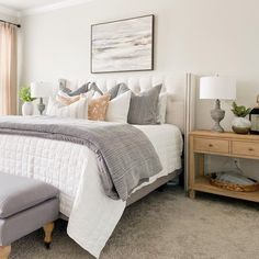 Bedroom Themes, Bedroom Styles, Bedroom Decor, Bedroom Ideas, Bedroom Photos, Cream And White Bedroom, Pottery Barn Bedrooms, Spring Home Decor, Decorating Your Home