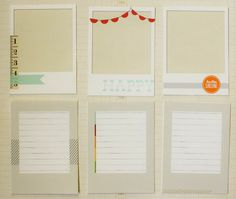 Tutorial for digital frames to journaling cards. These digital frames are just right for Project Life.