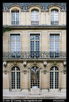 Facade of hotel particulier. Paris, France (color)
