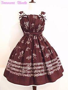 Innocent World - Music Series Torchon Lace JSK /// ¥22,800 /// Bust:  76-100cm (free?) Waist:  63-100cm Length:  body: 27cm / skirt: 55cm