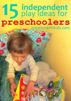15 creative Ideas for Entertaining Preschoolers