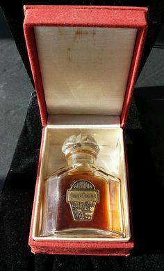 Antique RARE 1898 Guerlain Perfumers Paris ~ TRAVERS CHAMPS~ BACCARAT orig. Box