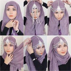 Hijab Tutorials Pashmina Pesta