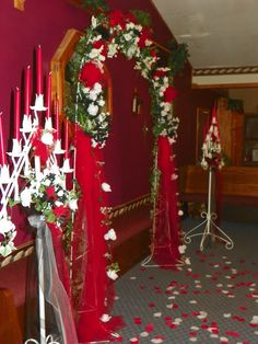 Red, White & Black Wedding decorations