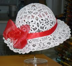 Easter Bonnet   Mold a doily over a bowl, use fabric stiffener and decorate it for Easter.  You can always buy the doily.