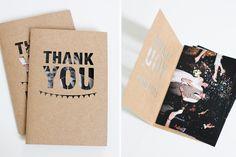A DIY from Fellow Fellow, the perfect thank you card. #wedding Cute thank you card idea? :)